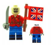 Eddie The Trooper (Iron Maiden) Single Cover Mascot with Union Jack Flag - Custom Designed Minifigure